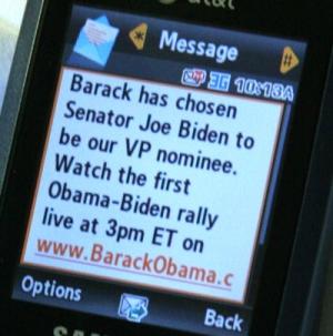 Wysyłka SMS w kampanii Barracka Obamy
